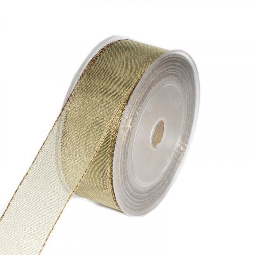Wstążka tkana w kolorze złotym