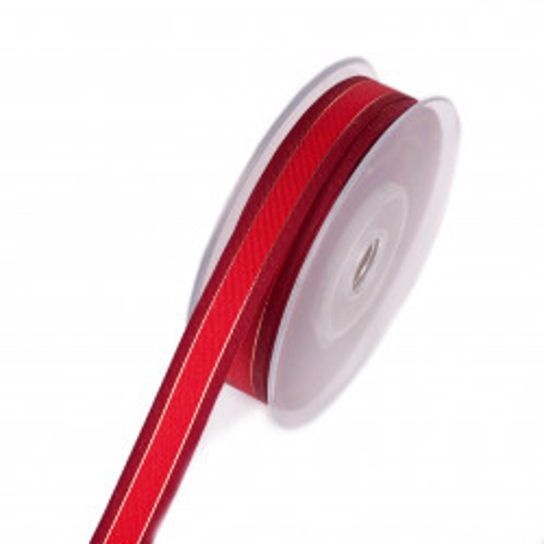 Wstążka tkana w odcieniach czerwieni