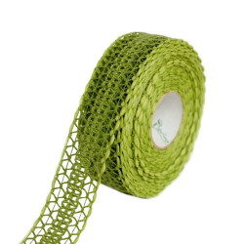 Wstążka tkana w odcieniu zieleni