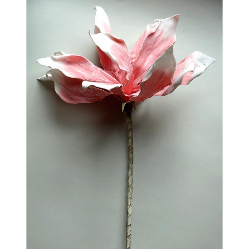 Kwiat sztuczny różowo-biały