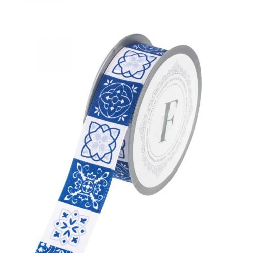 Wstążka tkana z motywem ozdobnym kafelków (azulejo)