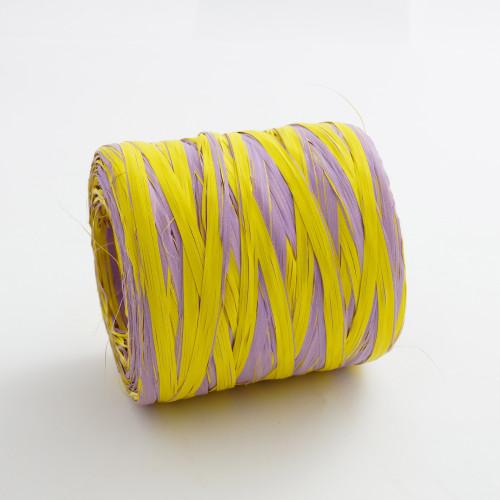 Rafia dwukolorowa fiolet z żółcią