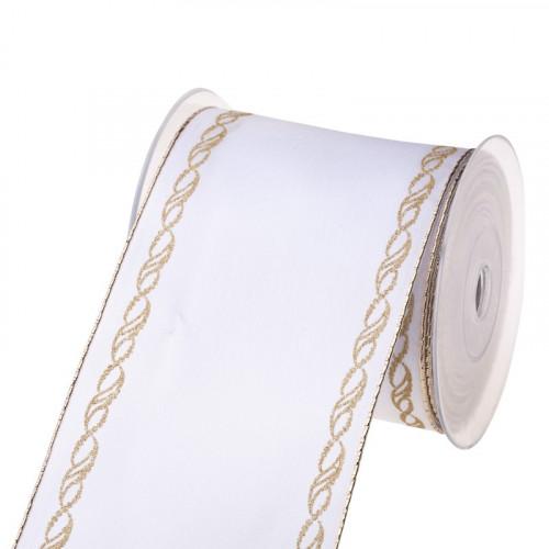 Wstążka tkana - złoty warkocz