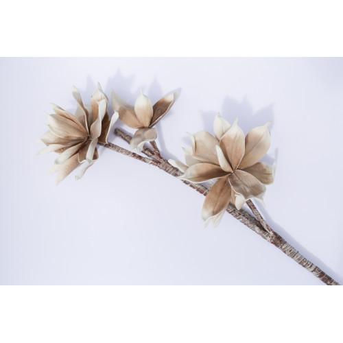 Kwiaty sztuczne - gałązka beżowe