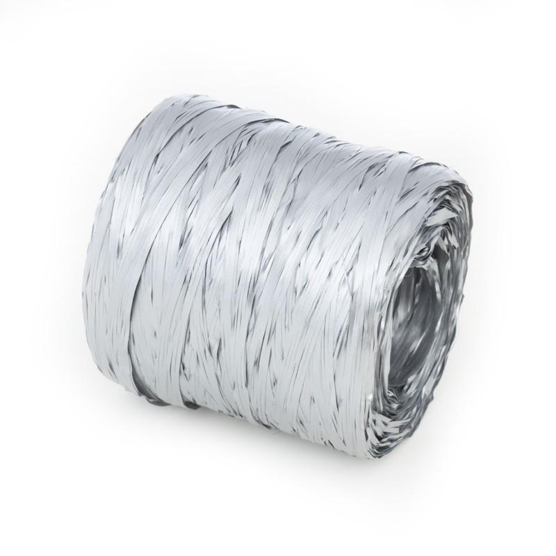 Rafia w kolorze srebrnym