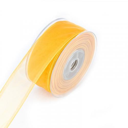 Wstążka szyfonowa żółta