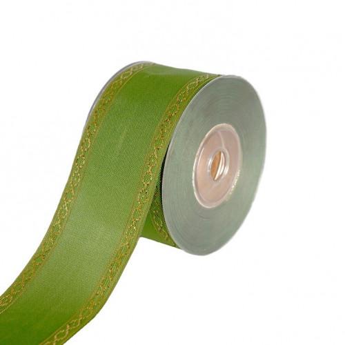 Wstążka tkana w odcieniu zielonym