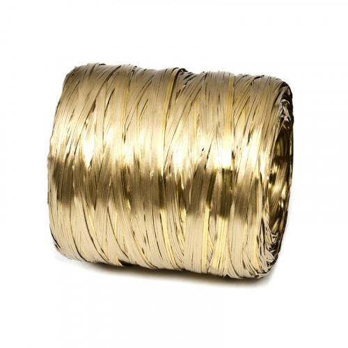 Rafia metalizowana w kolorze złotym