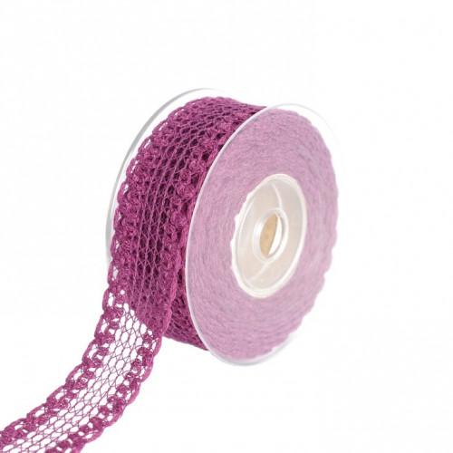 Wstążka tkana purpurowa